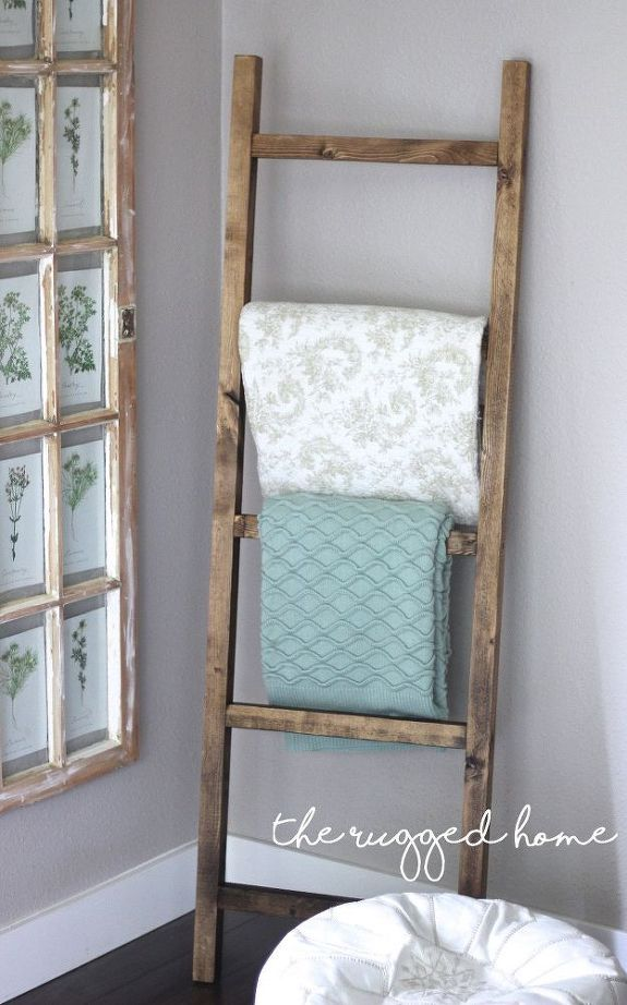 Make A Rustic Ladder For 7 Dollars Rustic Furniture Design Home Decor Easy Home Decor
