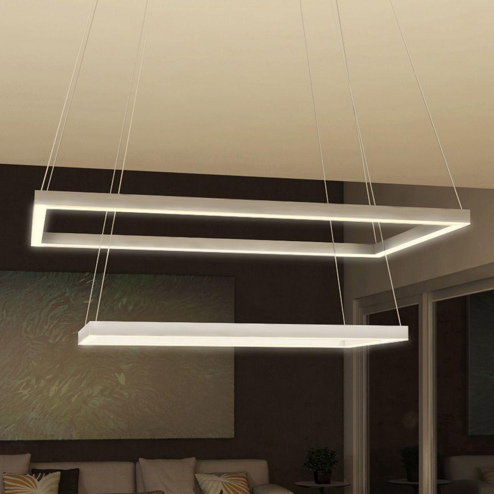 VONN Lighting Atria Duo Silver Modern Two-tier 29-inch LED ...