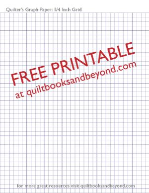 Free Printable Resource QuilterS Graph Paper With  Inch Grid