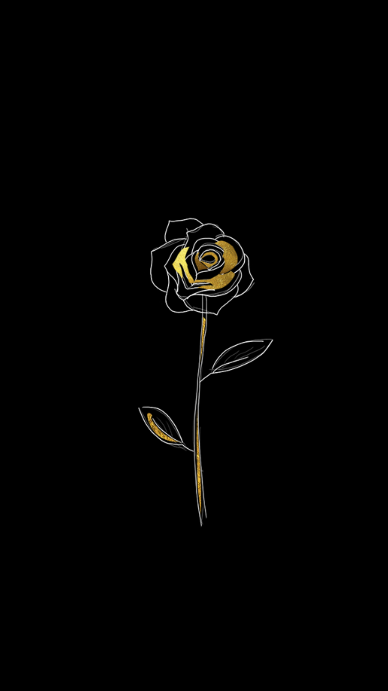 Pin By Brittani On Roses Black Wallpaper Gold Aesthetic Phone Screen Wallpaper