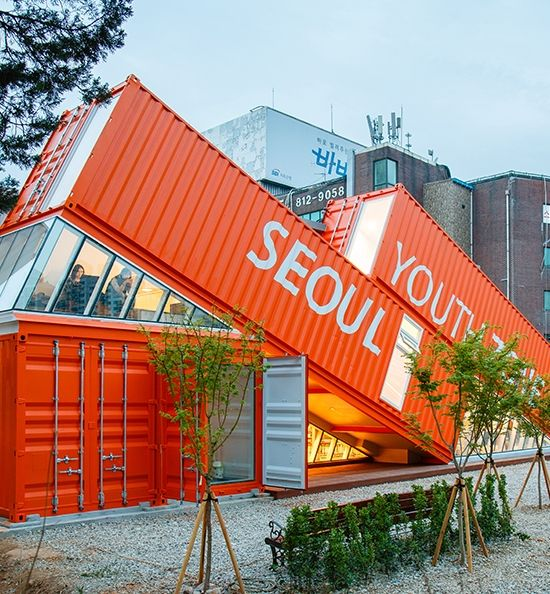 Seoul Youth Zone Shipping Container Building, South Korea