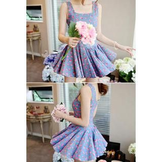 Buy 'LOVEMARSH – Floral Print A-Line Mini Dress' with Free International Shipping at YesStyle.com. Browse and shop for thousands of Asian fashion items from South Korea and more!
