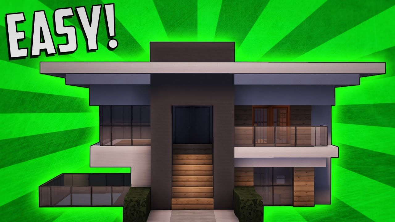 Minecraft How To Build A Small Modern House Tutorial 8