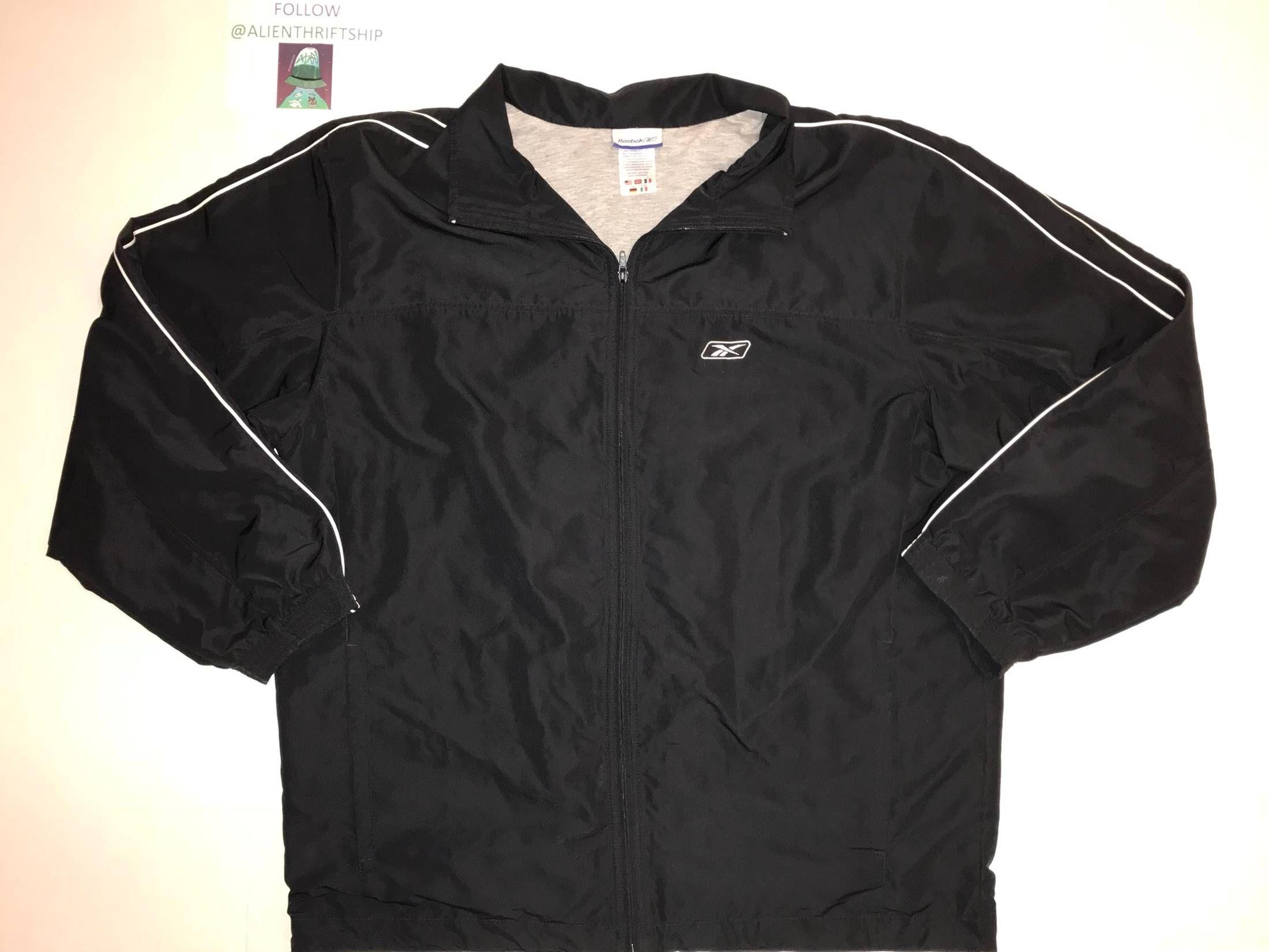 Reebok Sportswear Vintage 90s Vintage Reebok Zip Up Jacket Light Coat Size L 19 Jackets Light Coat Vintage Reebok [ 1651 x 2200 Pixel ]