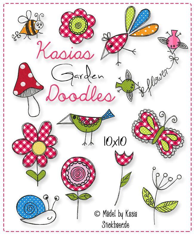 kasias garden doodles 10x10 n hen stickdateien pinterest. Black Bedroom Furniture Sets. Home Design Ideas