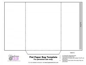 daydream in color flat paper bag template blank templates