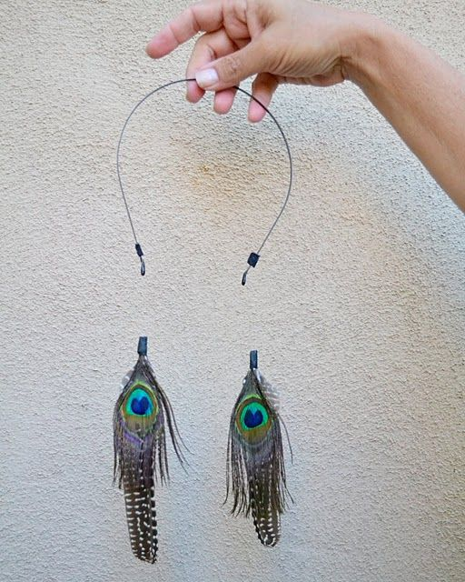How To Make A Feather Extension Headband Diy Jewelry Pinterest