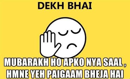 Pin On Dekh Bhai Happy New Year Trolls