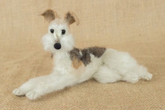 Made to Order Needle Felted Dog: Custom needle by TheWoolenWagon