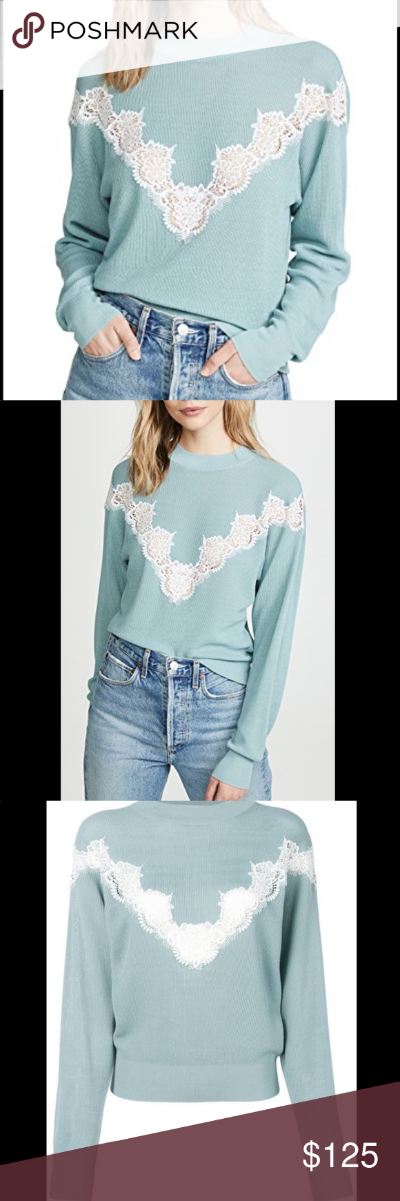 See by Chloe blue Nile pullover Brand new. $455. Size medium. See By Chloe Sweaters #seebychloe