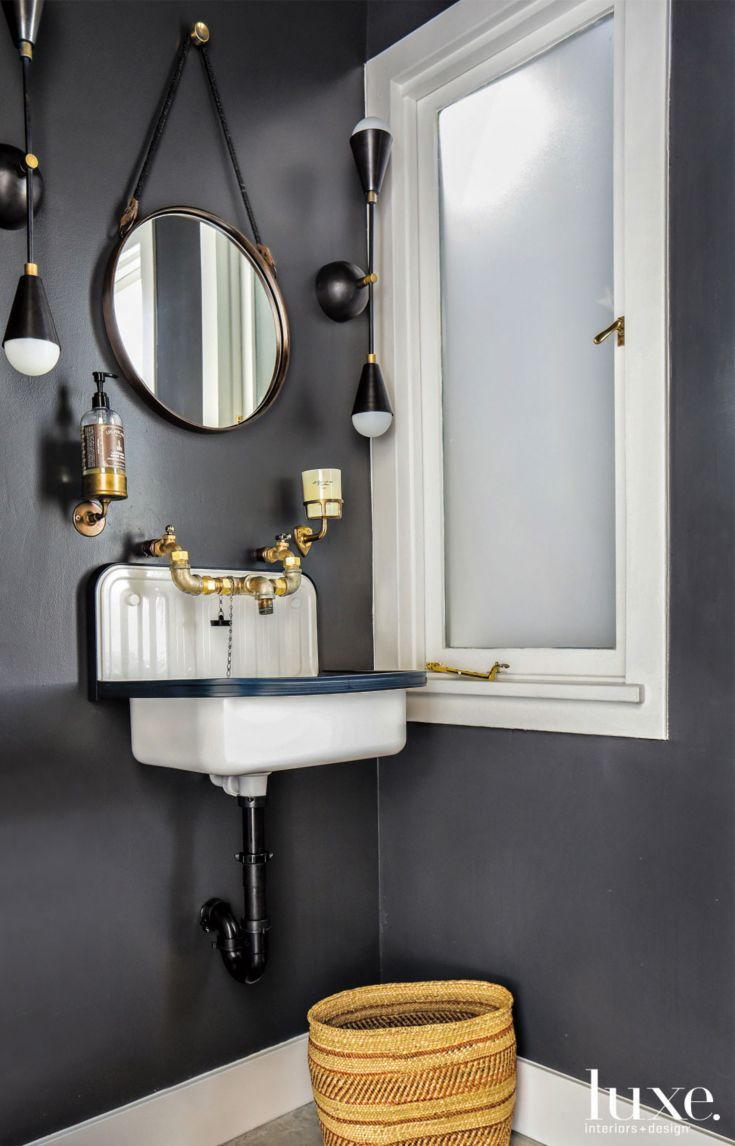 Fresh Modern Powder Room Reveal Keys To Inspiration: Darkside Of The Room: 29 Ways To Use Black In Your Home