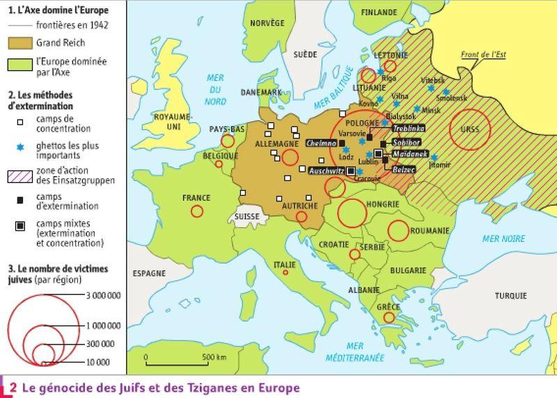 carte des camps de concentration Carte des camps de concentration et des camps d'extermination dans