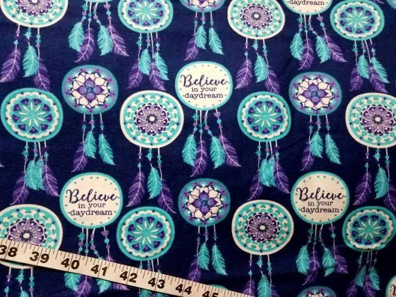Flannel fabric dreamcatcher dream catchers believe daydream cotton print quilting sewing material to sew crafting quilters bty by the yard by ConniesQuiltFabrics from ConniesQuiltFabric. Find it now at http://ift.tt/2krR3AR! http://ift.tt/24HwgZX.