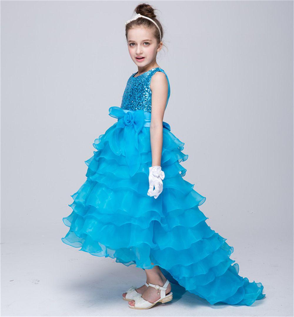 2016 Summer Flower Girl Dress Child Prom Dresses Kids Party Evening ...
