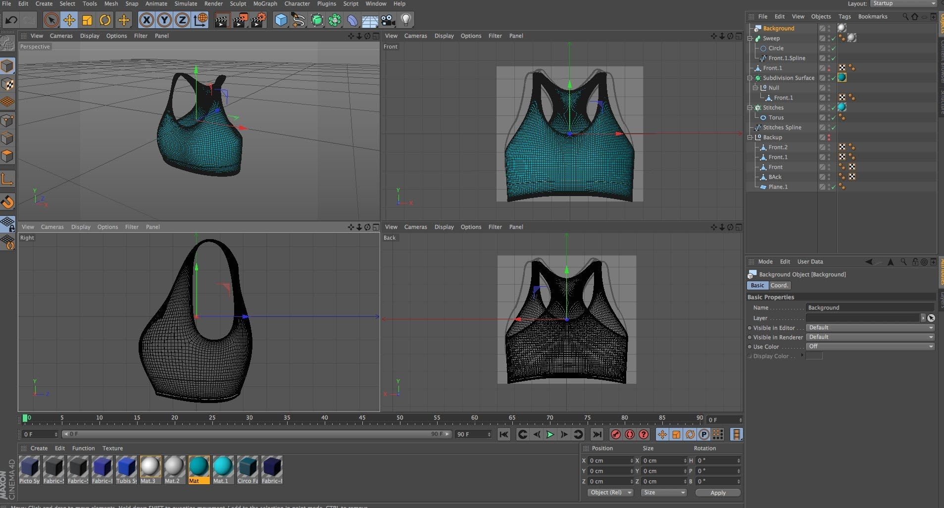Character Design Cinema 4d Tutorial : Cinema d tutorial use the stitch and sew tool to model clothing