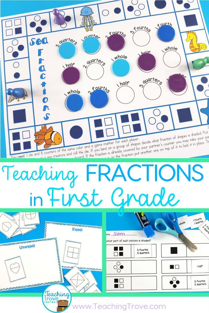 Fraction Games, Activities, Worksheets and Posters | Activities ...
