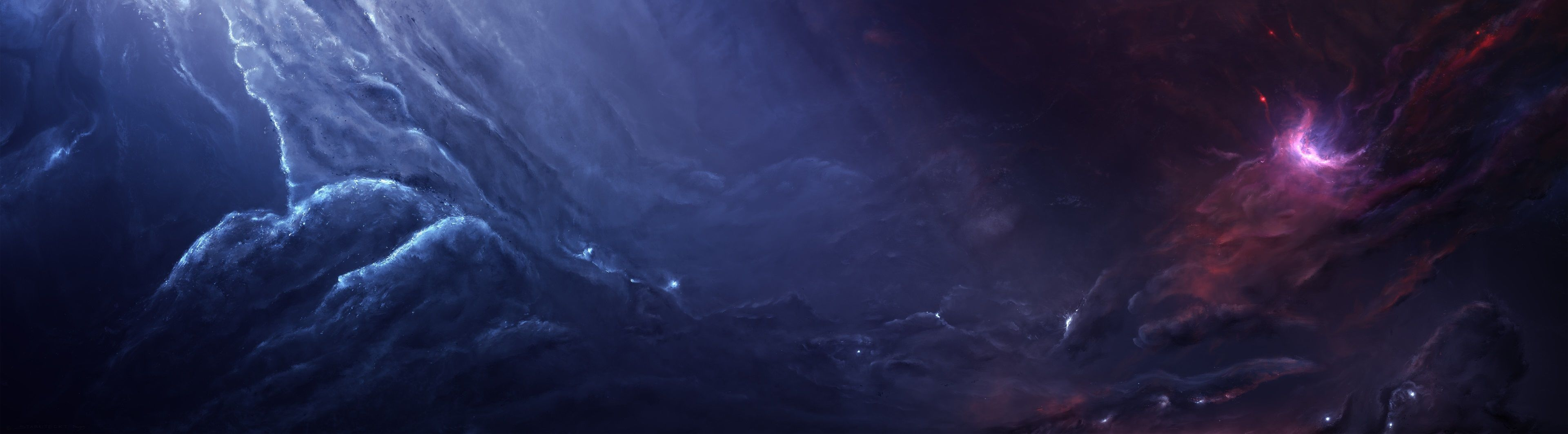3840x1065 horsehead nebula 4k windows wallpaper for
