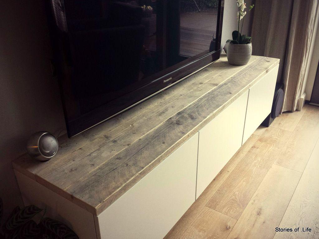 BESTA tv meubel hack Maak met wat IKEA onderdelen een set