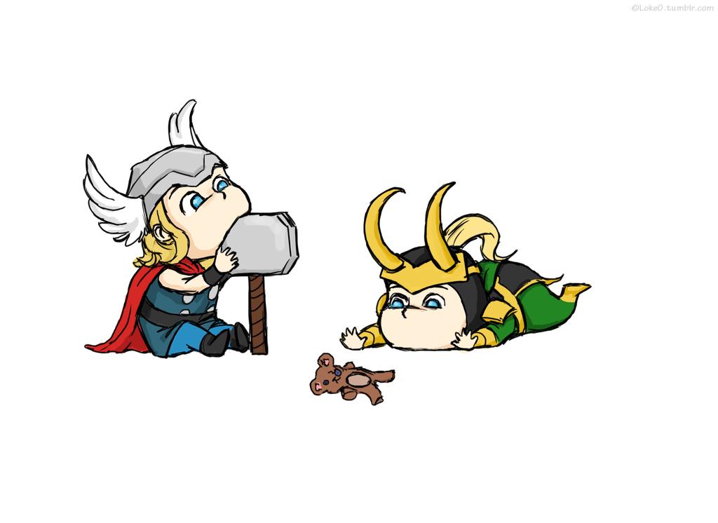 Baby Thor And Loki By Gorechick Deviant On Deviantart Loki Fanart Baby Loki Loki Drawing