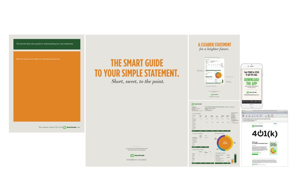 AMERITRADE Print ad News letter Statement App E-mail My work - statement letter