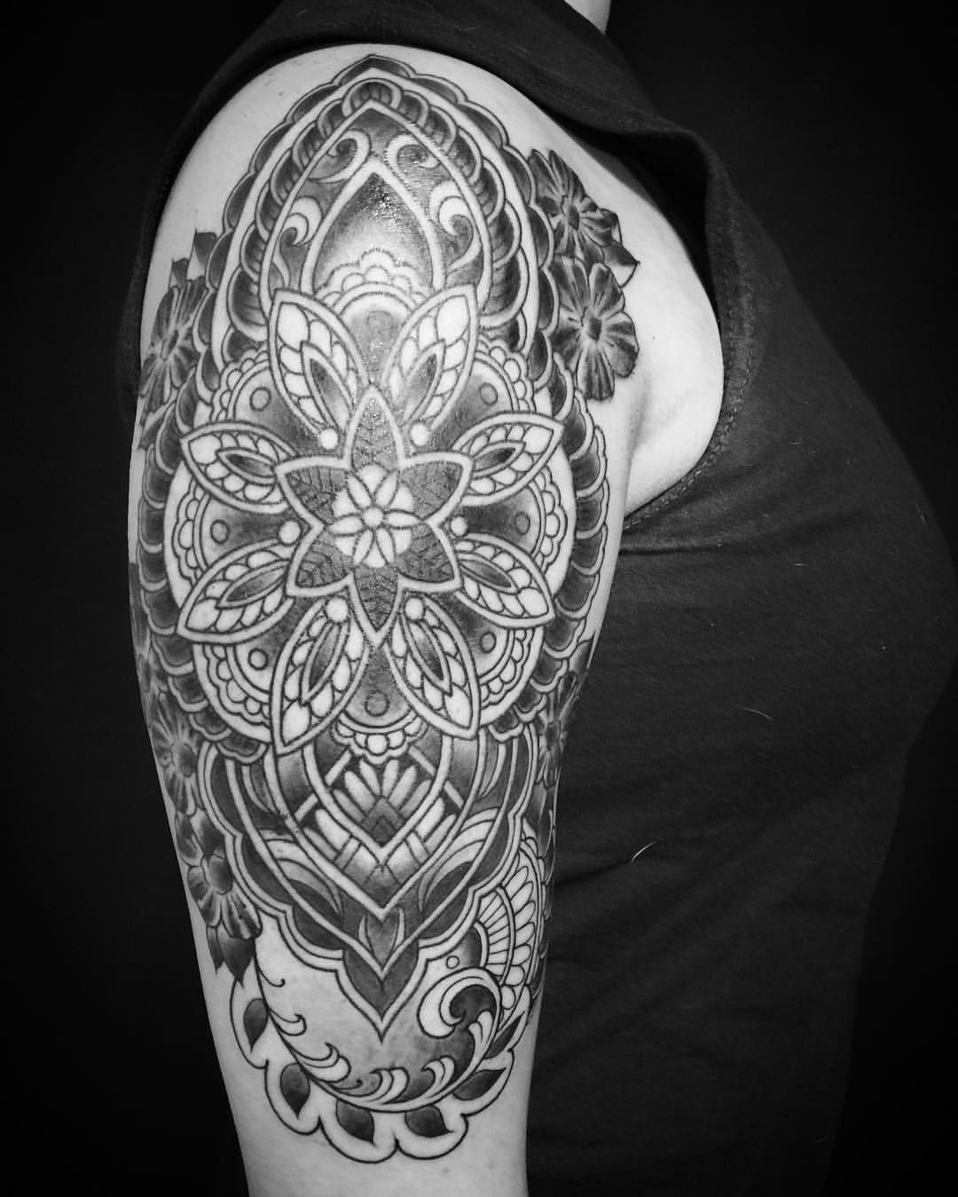 c620143aa Mandala tattoo half sleeve by Oksana weber | Tattoo ideas | Tattoos ...