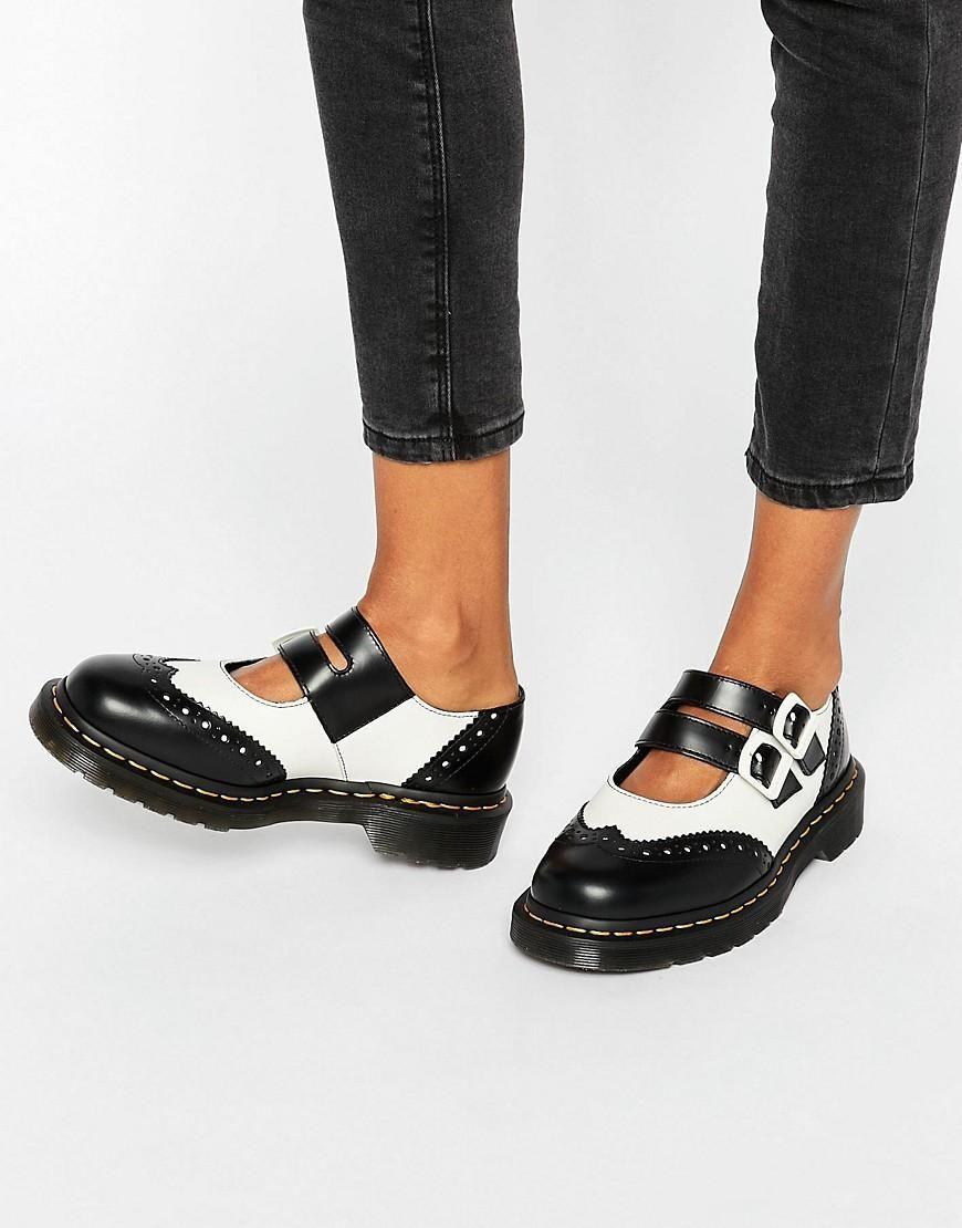 dr martens dr martens adena ii mary jane flat shoes at. Black Bedroom Furniture Sets. Home Design Ideas