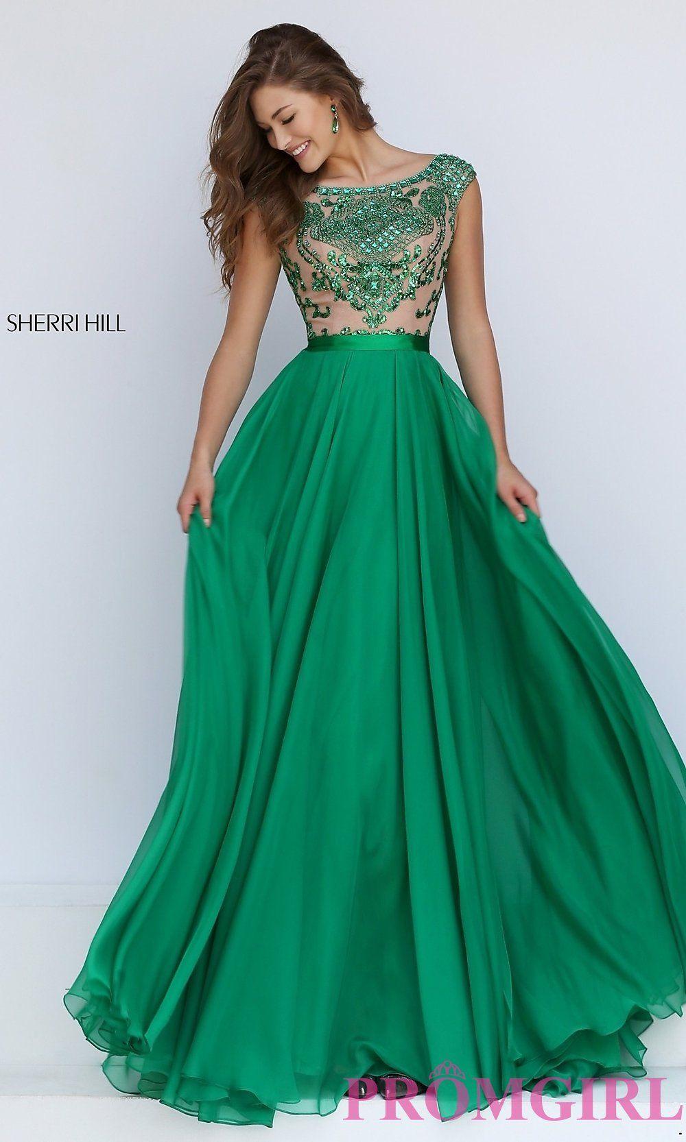 Green Emerald prom dress sherri hill pictures fotos