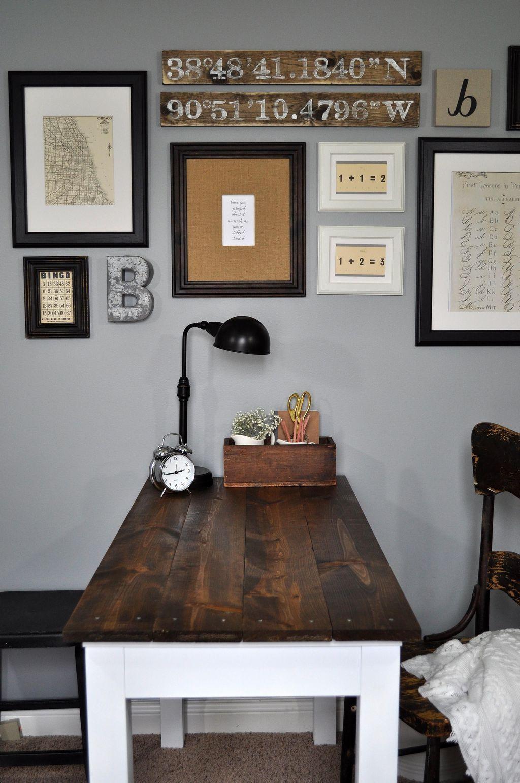 34 vintage farmhouse office decorating ideas