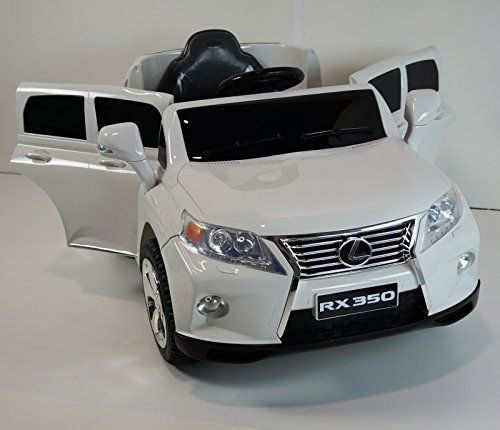 New 2015 Lexus Rx350 Kids Ride On Power Wheels Battery Toy Car Remote Control Lights Music White Power Wheels Kids Power Wheels Kids Ride On