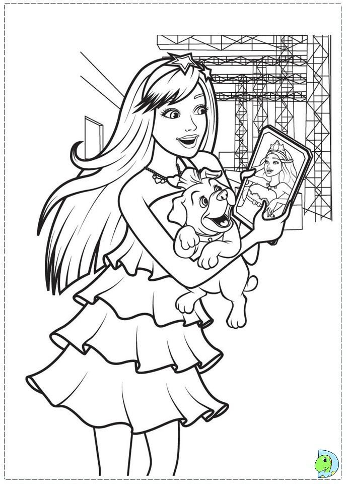 Barbie Princess And The Popstar Coloring Pages Google Sogning