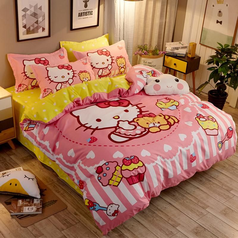Hello Kitty Bedding Set Hello Kitty Bed Sheets Duvet Cover Bed
