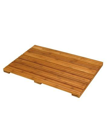 Bring a note of natural beauty to your bathroom decor with this beautiful  Ecostyles bamboo bath mat. Warm to the feet and pleasant to the eyes, ...