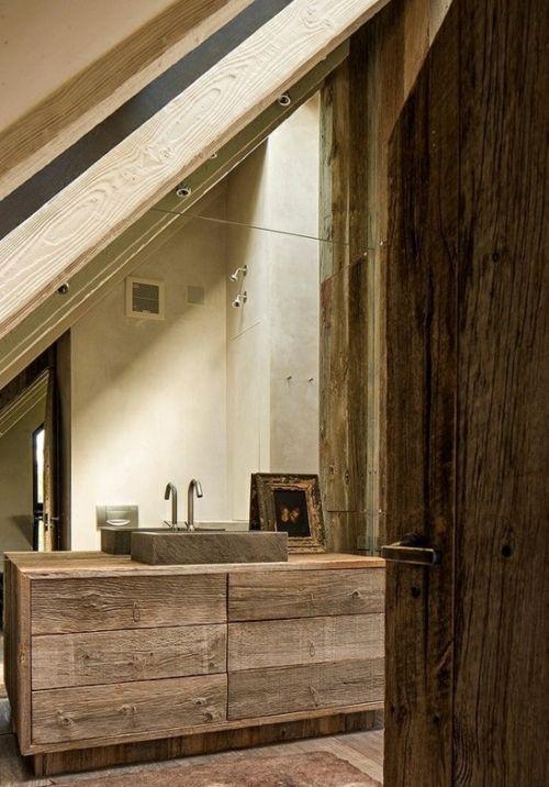 Waschtisch holz rustikal  rustikale badezimmer design ideen holz waschtisch schrank ...