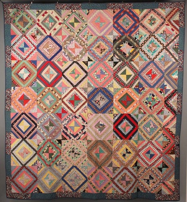 East Tennessee pieced quilt seen at auction. Colorful cottons. 1st ... : history of american quilts - Adamdwight.com
