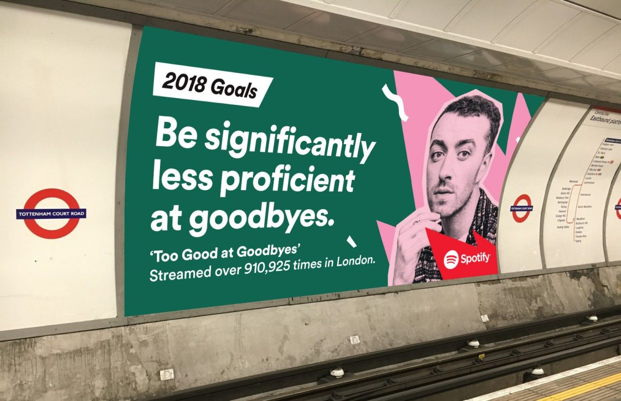 Spotify wraps up 2017 by making humorous goals for 2018