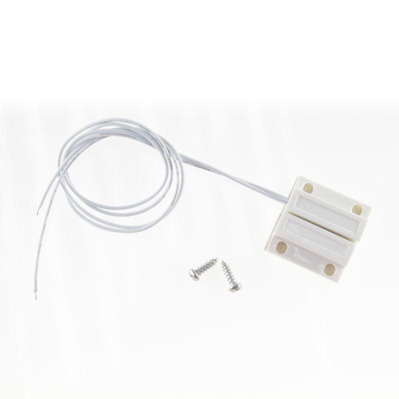 Gratis verzending 1 stks Wired Deur Raam Sensor 330mm Draad Verlengen Willekeurig Magnetische Schakelaar Alarmsysteem normaal gesloten NC