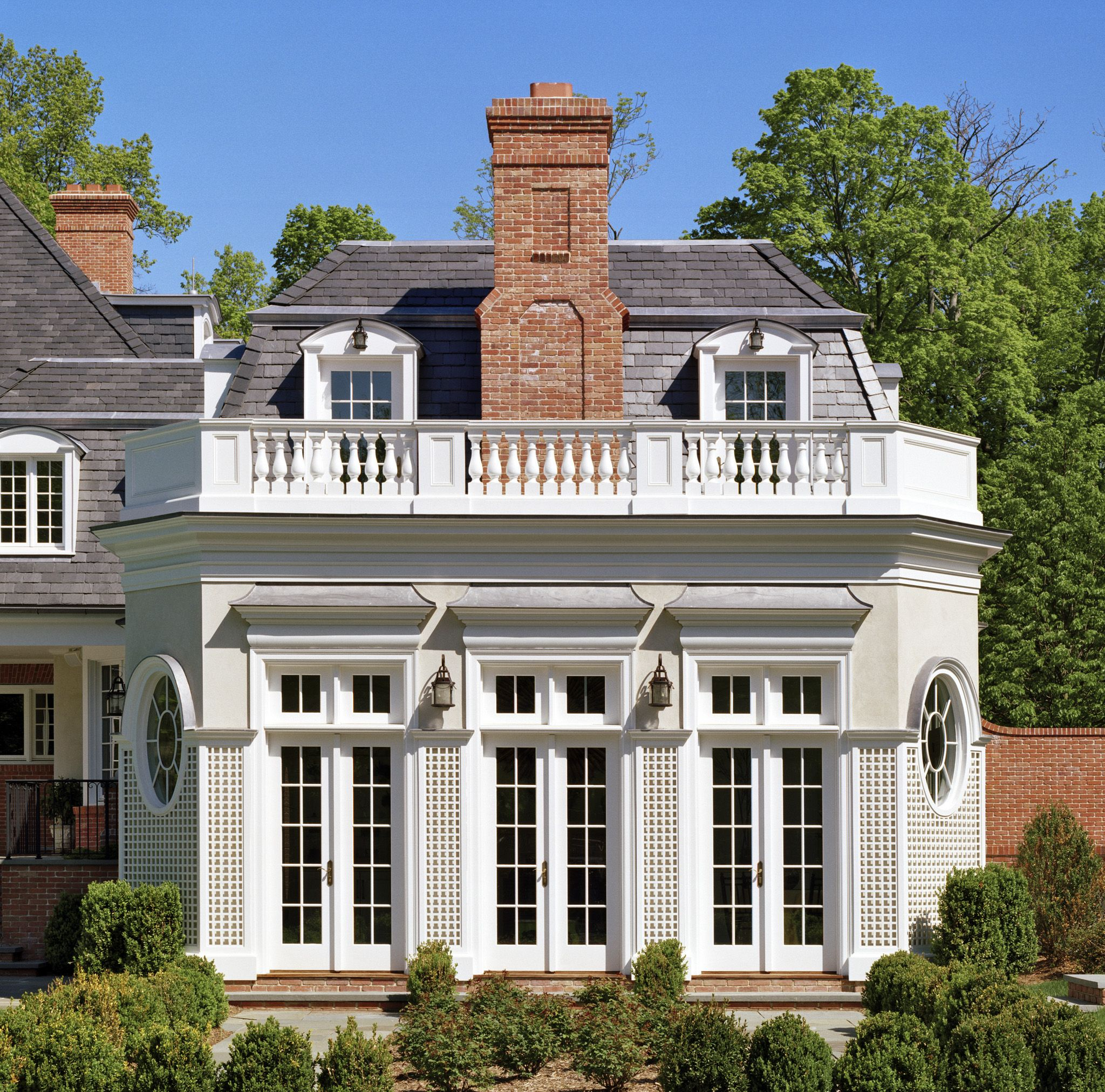 Douglas VanderHorn Architects French Chateau Sunroom Exterior - French country architecture