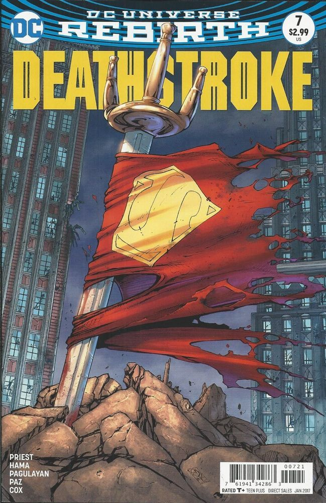 DC Rebirth Deathstroke comic issue 7 Limited variant