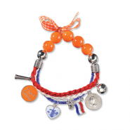 oranje armbandje oranje sieraden oranje kleuren