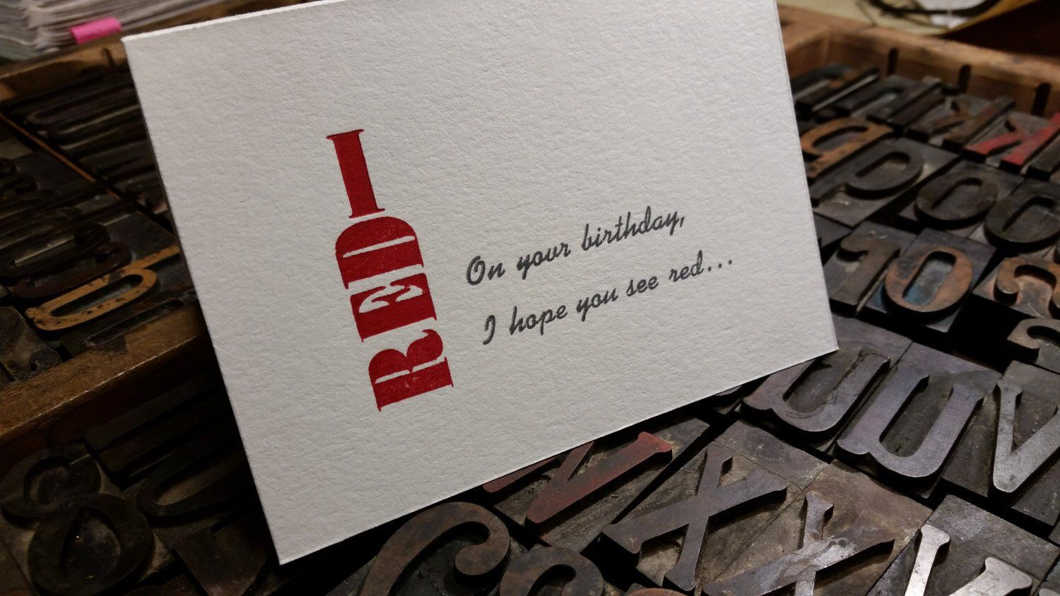 Birthday Card For Wine Lovers And Other Discriminating Friends