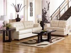 2 Pc Ashley DuraBlend Ivory Living Room Set