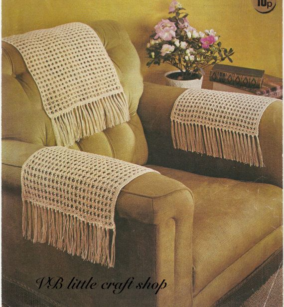 Chairback And Chair Arms Covers Knitting Pattern Instant Pdf Sofa Arm Covers Arm Chair Covers Chair Back Covers