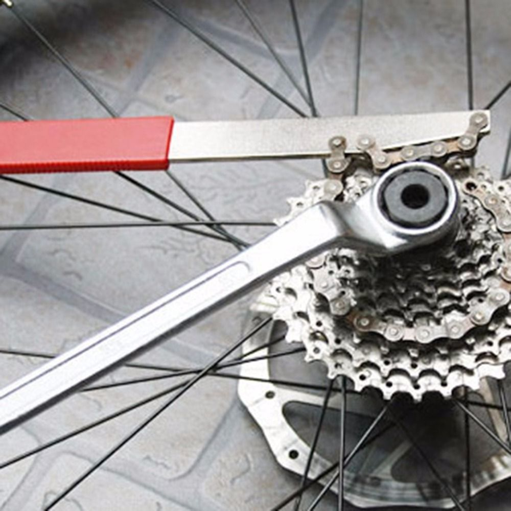 Bicycle Cassette Freewheel Remover Wrench Sprocket Chain Whip