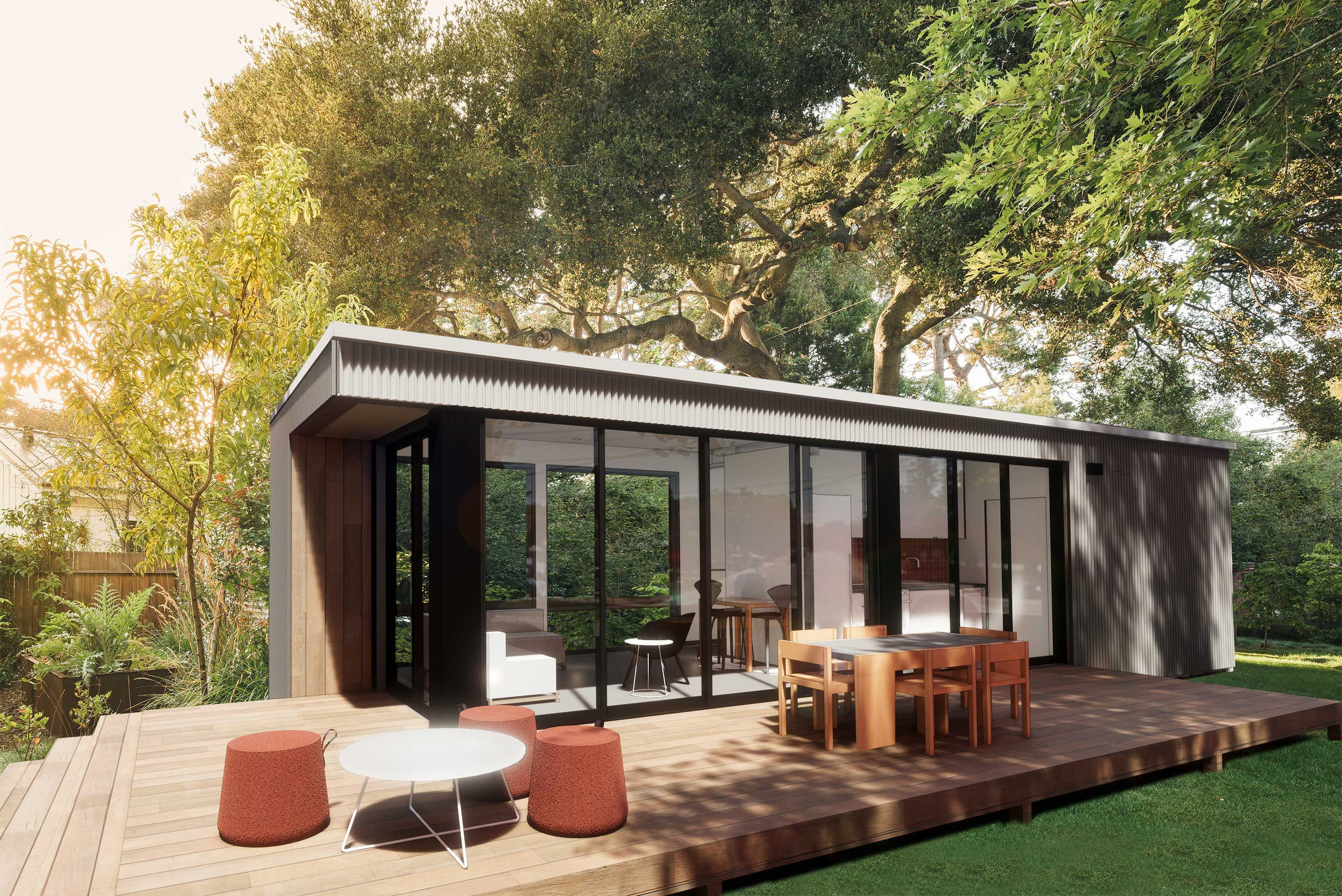Connect 2 The Perfect Adu Grannyflat Or Guesthouse Housing Solution 460sq Ft 1br 1ba Modern Prefab Homes Prefab Homes Prefab