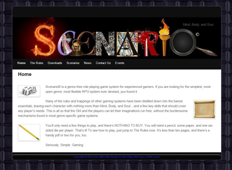 Scenario   Website Development   Graphic design, Design, Custom logos