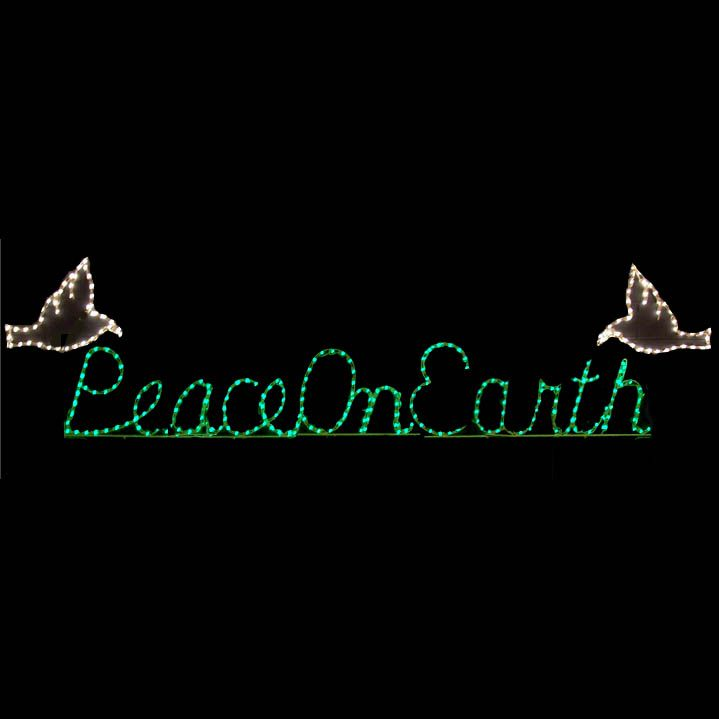 Lighted Peace On Earth Sign Yard Lights Christmas Merry Christmas Lighted Sign Christian Christmas Signs