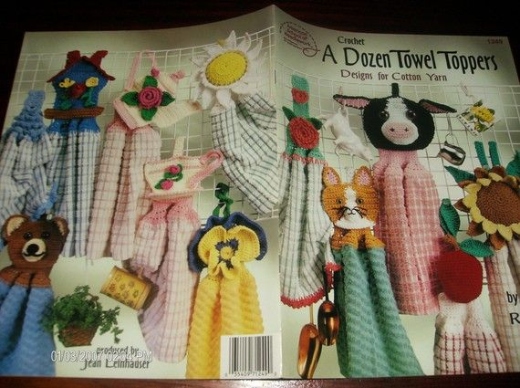 Kitchen Crocheting A Dozen Towel Toppers by ClassyStitches on Etsy, $12.00