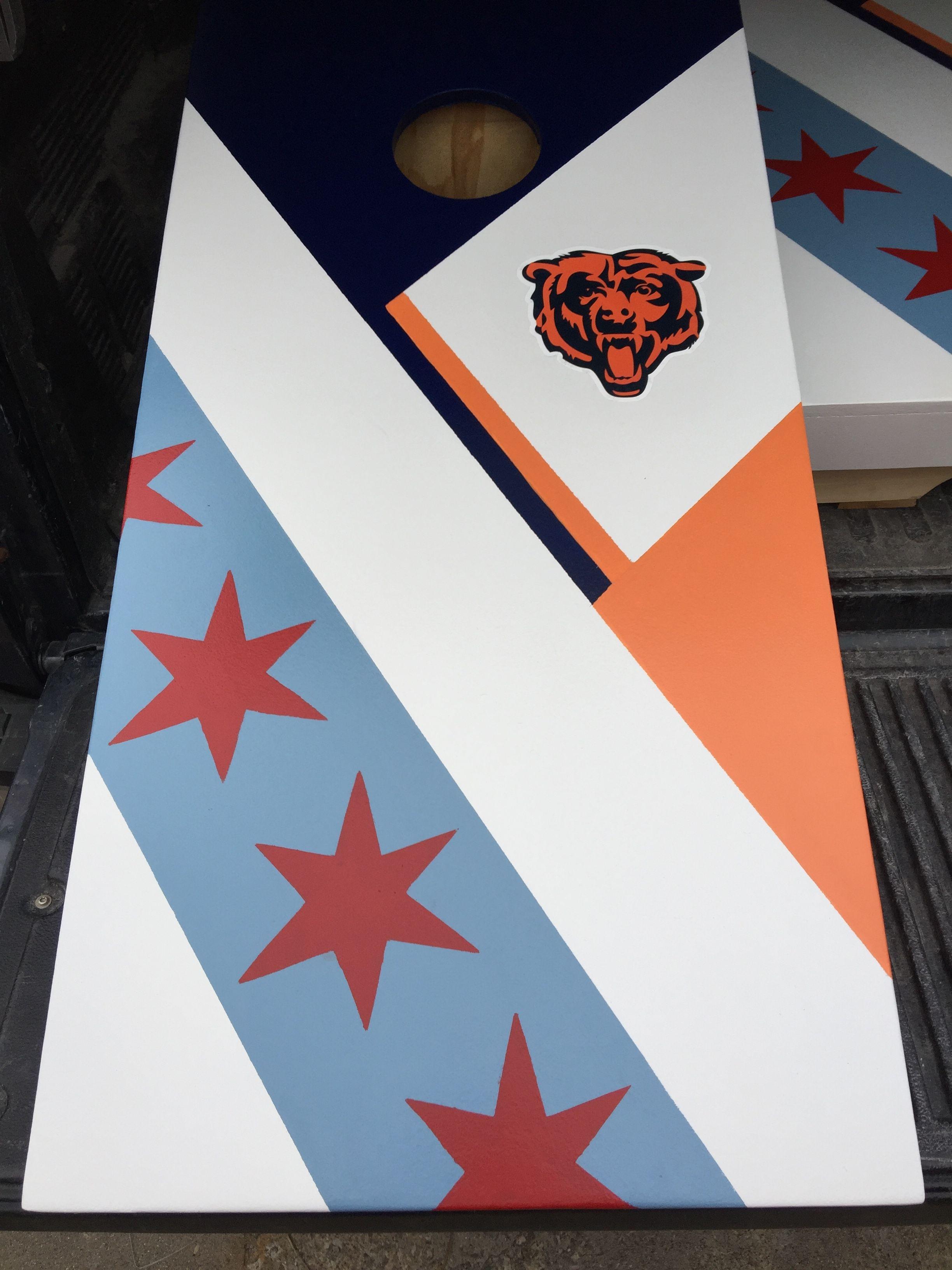Fantastic Chicago Flag Chicago Bears Bean Bag Boxes Custom Builds Alphanode Cool Chair Designs And Ideas Alphanodeonline