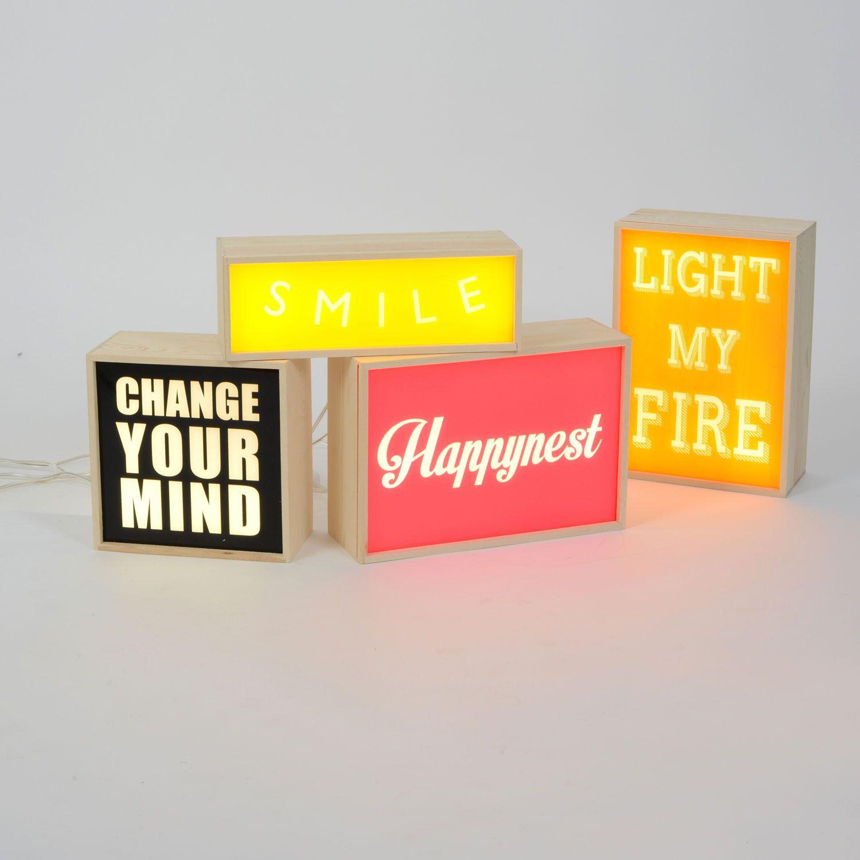 Seletti Think Box Lightbox Small | Table Lamps | Lamps | Lighting ... for Light Box Design Ideas  34eri