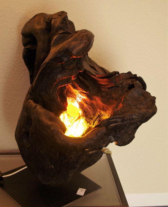 Driftwood lamp sculpture Driftwood move by LegnoLichtskulpturen - k amp uuml che mit holz